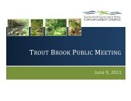 trout brook public meeting - Cumberland County Soil & Water ...