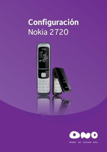 Configuración Nokia 2720 - Ono