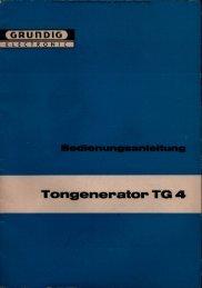 GRUNDIG Tongenerator TG 4 - Rainers - Elektronikpage
