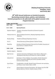 opening summary and overall conference schedule. - IAFFE