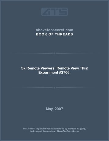 Ok Remote Viewers! Remote View This ... - Above Top Secret