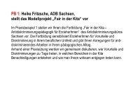 """PB 1: Heike Fritzsche, ADB Sachsen, stellt das Modellprojekt """"Fair in ..."""