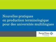 Nouvelles pratiques en production terminologique pour des ...
