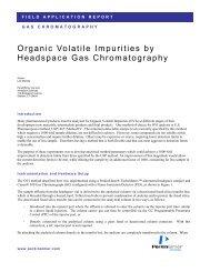 Organic Volatile Impurities by Headspace Gas Chromatography