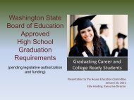 Washington State Board of Education Approved High School ...