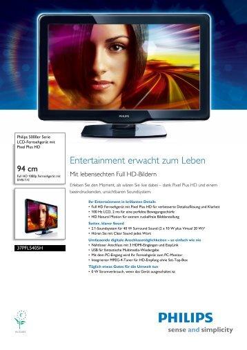 Leaflet 37PFL5405H_12 Released Germany (German) High-res A4.fm