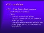 OSI - modellen