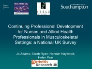 The continuing professional development for health professionals ...