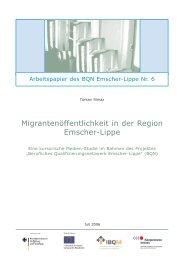BQN Arbeitspapier 6 - Rhein-Ruhr-Institut für Sozialforschung und ...