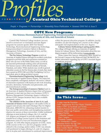 Summer 2010 - Central Ohio Technical College