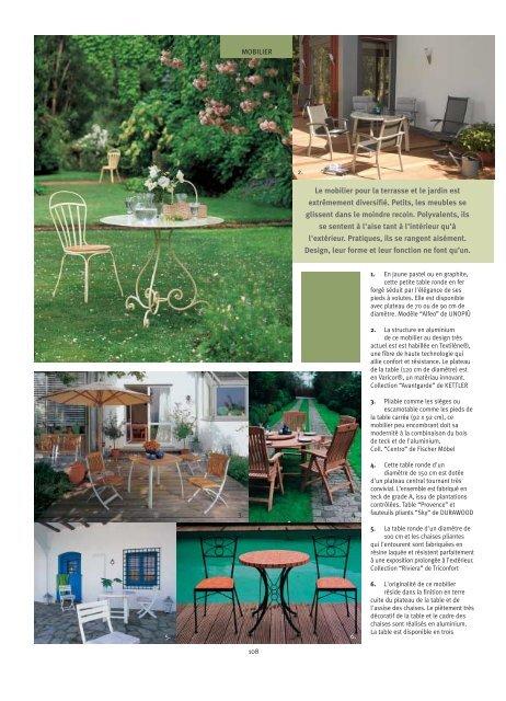 Les meubles du jardin