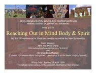 Reaching Out in Mind Body & Spirit - SPIRITUALjourneys.org.uk