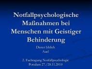 Akutphase - BDP - Sektion Klinische Psychologie