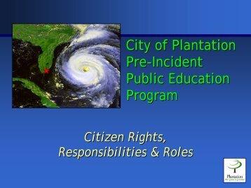 Emergency Preparedness for Your Home - City of Plantation