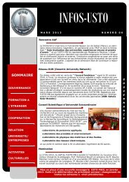 Télécharger le Bulletin d'information Numéro6 - Université des ...