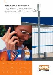 Sisteme de instalaţii pentru reţele de date. - OBO Bettermann