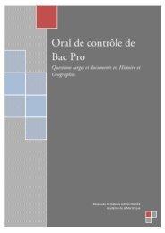 Oral de contrôle de Bac Pro - Académie de la Martinique