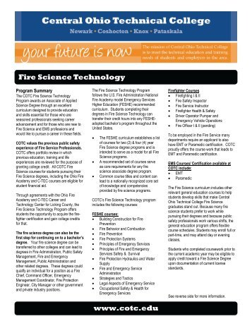 Fire Science Technology - Central Ohio Technical College
