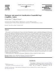 Phylogeny and genus-level classification of ... - Miguel Vences
