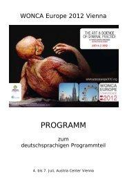 PROGRAMM - Österreichische Gesellschaft für Allgemein
