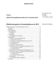 Effektiviseringskrav til elnetselskaberne for 2013 - Energitilsynet
