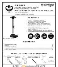 installation guide & parts list b-tech audio video mounts contents ...