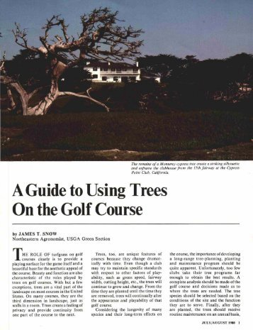 A Guide to Using Trees On the Golf Course - USGA Green Section ...