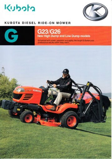 KUBOTA DIESEL RIDE-ON MOWER - George Browns