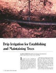 Drip Irrigation for Establishing and Maintaining Trees - USGA Green ...