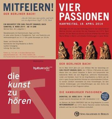 Vier Passionen | Karfreitag, 18. April