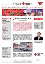 Kreuz + Quer, 15.12.2009, Ausgabe 50 - Drk-Kreisverband ...