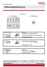 Bedienungsanleitung 3015 - Soehnle Professional