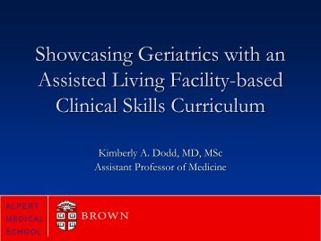Showcasing Geriatrics with an Assisted Living Facility-based ...