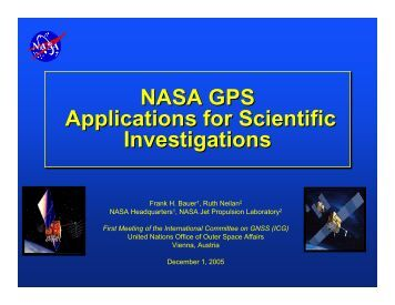 NASA GPS Applications for Scientific Investigations ... - GPS.gov