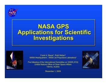 NASA GPS Applications for Scientific Investigations ... - GPS.gov