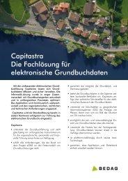 Capitastra Die Fachlösung für elektronische ... - Bedag Informatik AG