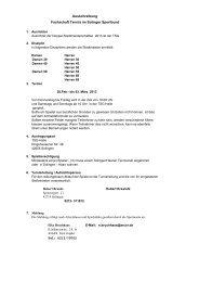 Ausschreibung Fachschaft Tennis im Solinger Sportbund - Stc02.de