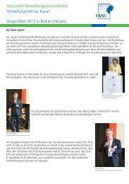 Zeugnisfeier 2013 - Hessischer Verwaltungsschulverband