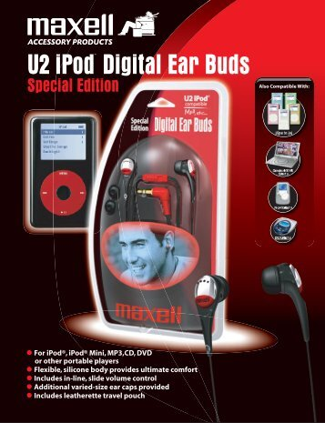 U2 iPod¨ Digital Ear Buds - Maxell Canada