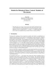 Models for Biological Motor Control: Modules of Movements