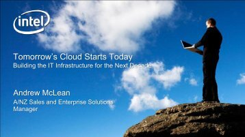 Tomorrow's Cloud Starts Today - HP