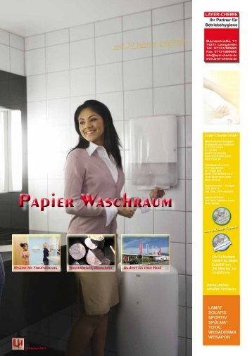 Papier Waschraum - layer-chemie gmbh