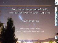 Automatic detection of radio meteor echoes in spectrograms