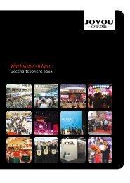 Geschäftsbericht 2012 - Joyou AG