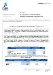 pgn menyampaikan laporan keuangan konsolidasi triwulan-i 2012