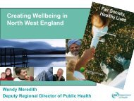 Creating Wellbeing in North West England - NHS North West