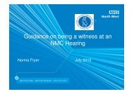 Guidance on being a witness at an NMC Hearing - NHS North West