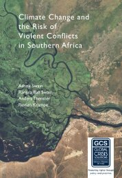 Climate Change and the Risk of Violent Conflicts ... - Sweden Abroad