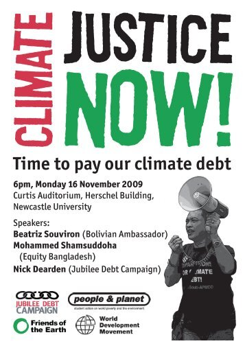 Time to pay our climate debt 6pm, Monday 16 ... - People & Planet