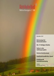 Mitteilungen Nr. 98 Dezember 2013 - Stiftung Rüttihubelbad